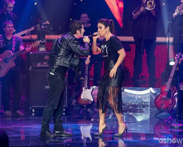 show; ivete; dinho (Foto: Camila Serejo / TV Globo)