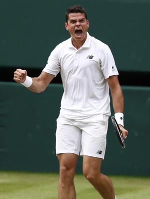 Milos Raonic, Wimbledon, tênis (Foto: Reuters)