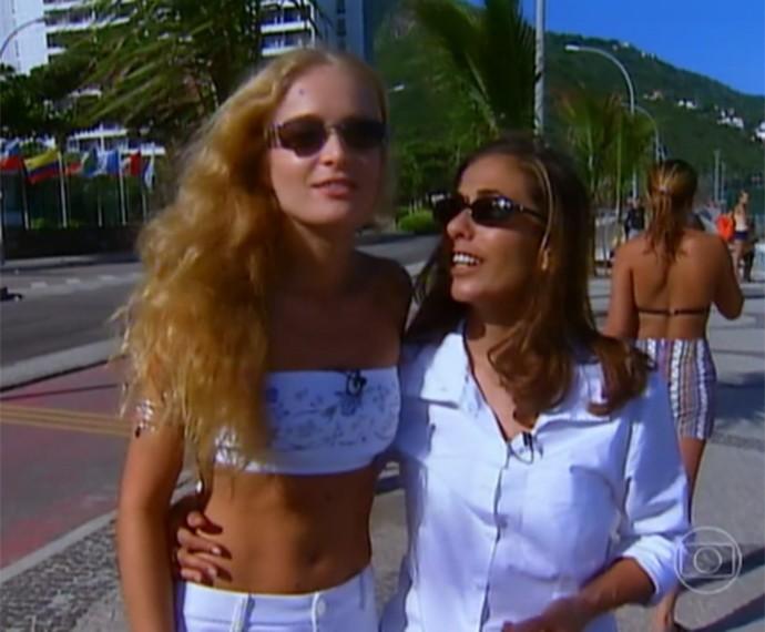 Angélica e Cissa terminaram o passeio na praia (Foto: Vídeo Show/Gshow)