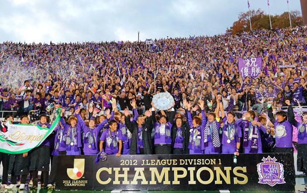 Sanfrecce Hiroshima comemoração título Japão (Foto: Divulgação / J. League)