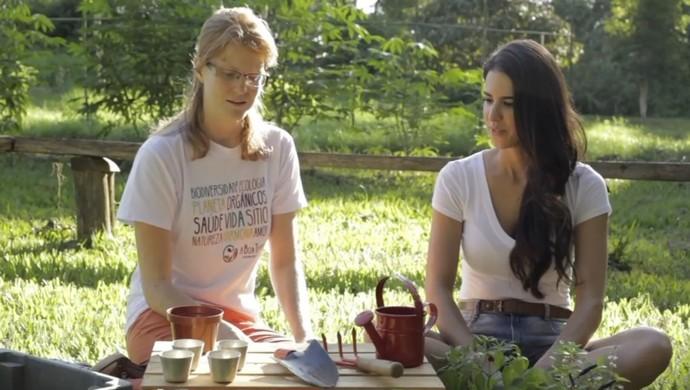 Analu horta orgânica (Foto: Reprodução)