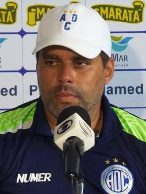 Leandro Sena, técnico do Confiança (Foto: Daniel Soares/Ascom ADC)