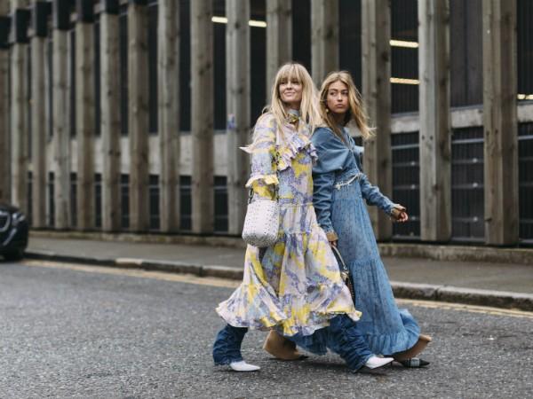 Apesar de inusitada, a combinação de vestido com calça pode funcionar (Foto: Imaxtree)