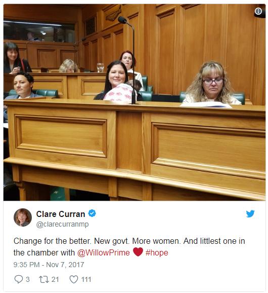 Deputadas amamentam durante sessão no Parlamento e ganham o apoio (Foto: Reprodução Facebook)