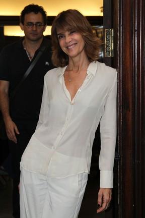 Monica Torres em estreia de peça no Centro do Rio (Foto: Anderson Borde/ Ag. News)