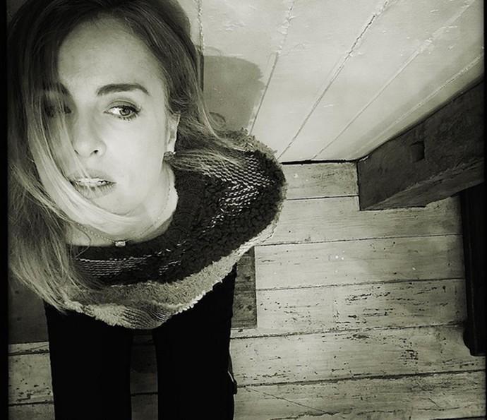 Angélica em ensaio fotográfico com Carmo (Foto: Arquivo Pessoal)