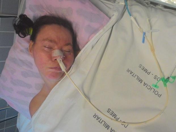 Mulher não identificada vive em coma há 15 anos em hospital, clarinha, HPM, espírito santo (Foto: Esther Radaelli/ TV Gazeta)