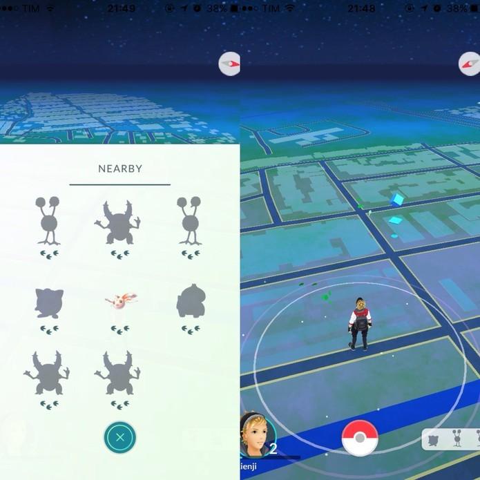 O sistema de pegadas de Pokémon não existe mais (Foto: Reprodução/Felipe Vinha)