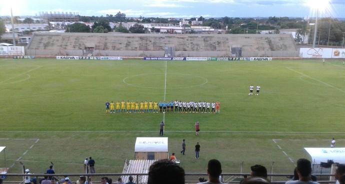 Misto x Cene no estádio Madrugadão (Foto: Bruno Axelson/TV Morena)