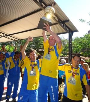 Equipe de bocha de Ouro Verde foi campeã dos Jogos em 2012 (Foto: Daniel Oliveira / Cedida)
