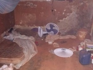 Após tentativa de fuga, cela foi isolada e passou por uma revista, em Porto Nacional (Foto: Divulgação)