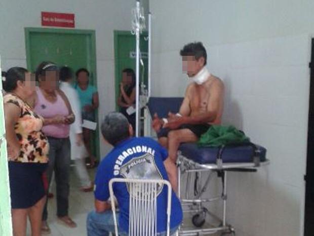 Tio foi levado ao hospital e logo em seguida foi preso  (Foto: MPiauí)