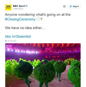 bbc brinca na festa de encerramento (Foto: Reprodução)
