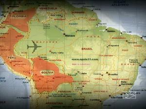 Droga veio da Colômbia, Peru e Bolívia e entrou no Maranhão (Foto: Reprodução/TV Mirante)