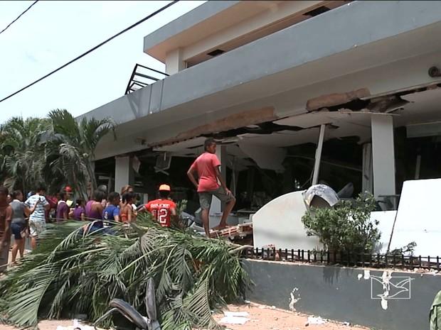 Moradores vivem clima de tensão após ataque de criminosos a agência do Banco do Brasil em Colinas, MA (Foto: Reprodução/TV Mirante)