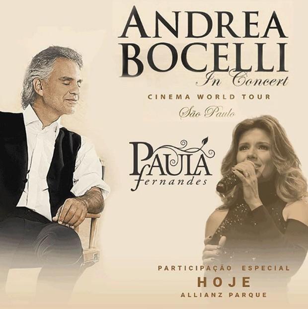 Paula Fernandes e Andrea Bocelli (Foto: Reprodução/Instagram)