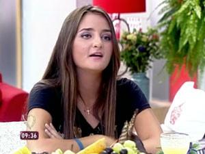 A brasileira Catarina Migliorini, de 20 anos, leiloou sua virgindade por US$ 780 mil (Foto: Reprodução TV Globo)