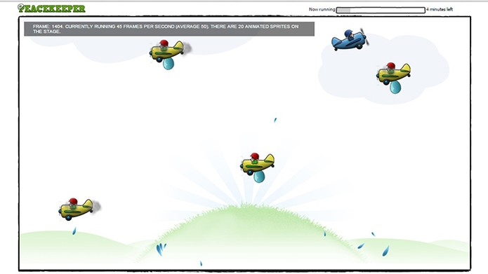 Teste com simulação para rodar jogos em 2D (Foto: Reprodução/Barbara Mannara)