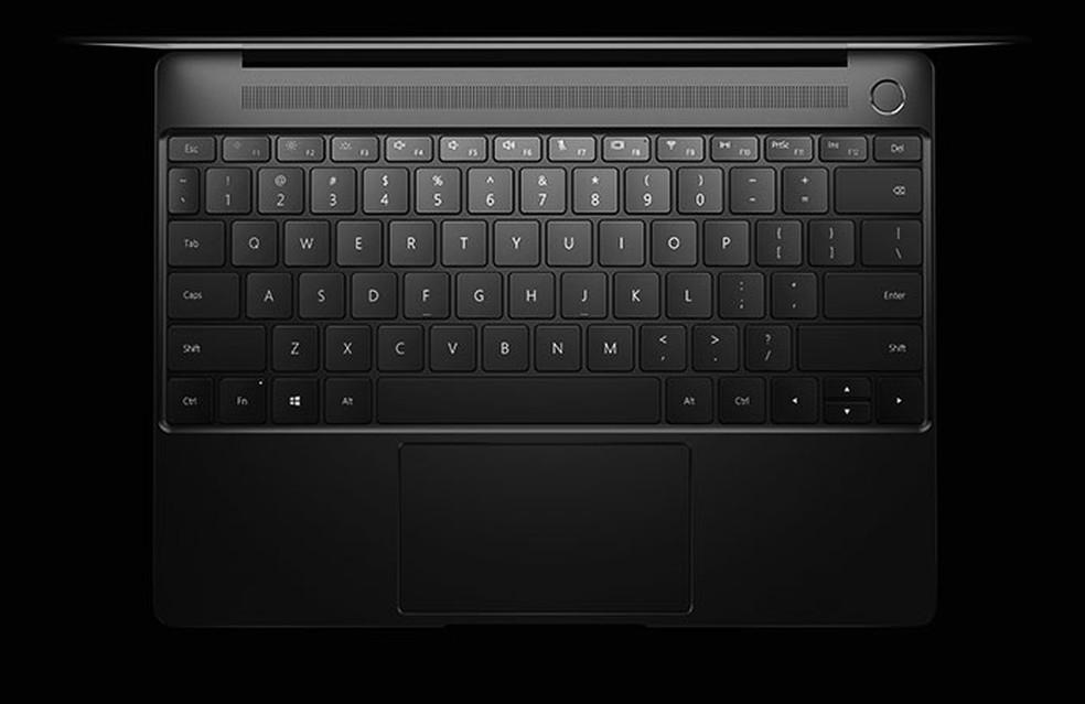 MateBook X vem com sensor biométrico integrado (Foto: Divulgação/Huawei)