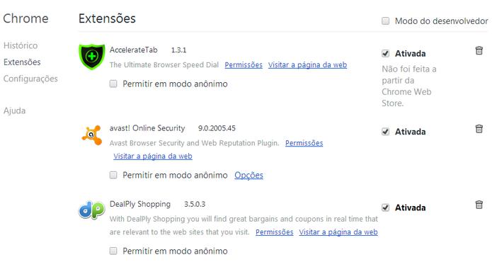Remoção do Dealply no Google Chrome (Foto: Reprodução/ Marcela Vaz) (Foto: Remoção do Dealply no Google Chrome (Foto: Reprodução/ Marcela Vaz))