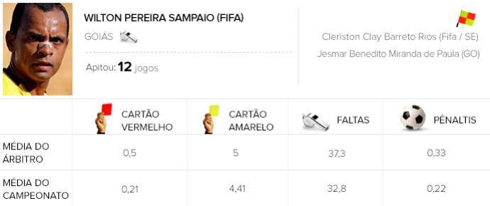 Info Arbitragem brasileirão - Wilton - Flamengo x Chapecoense (Foto: GloboEsporte.com)