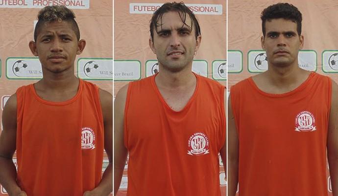 Jonh, Fernando Salvan e Rafael Silva se apresentam ao Caiçara (Foto: Divulgação/Caiçara)