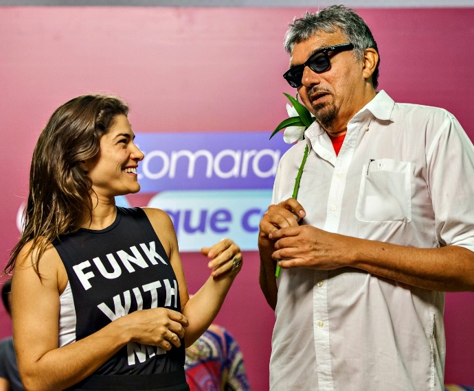 Falcão participa de ensaios para o 'Tomara que Caia' (Foto: Artur Meninea\Gshow)