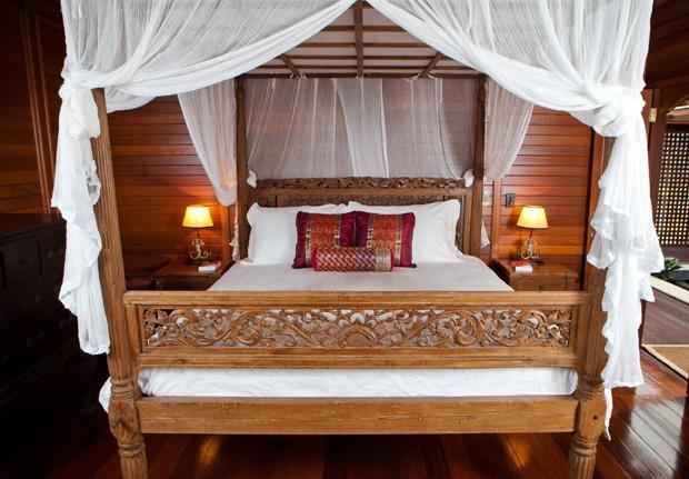 Quarto do resort que Justin Bieber está hospedado (Foto: Reprodução)