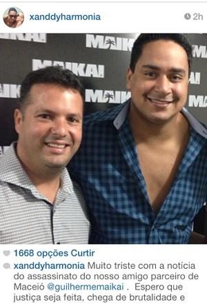 O cantor Xanddy, do Harmonia do Samba, também manifestou tristeza nas redes sociais. (Foto: Reprodução/Instagram)
