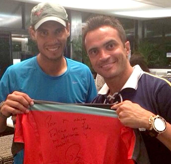 Falcão e Rafael Nadal camisa tênis (Foto: Reprodução / Instagran)