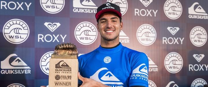 Medina conquista etapa da França do Mundial de Surfe (WSL)