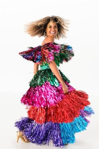 Erika Moura na gravação da vinheta de carnaval 2017 (Foto: Globo/Ramón Vasconcelos)