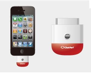 Dispositivo carrega perfume é conectado à entrada do iPhone (Foto: Divulgação)
