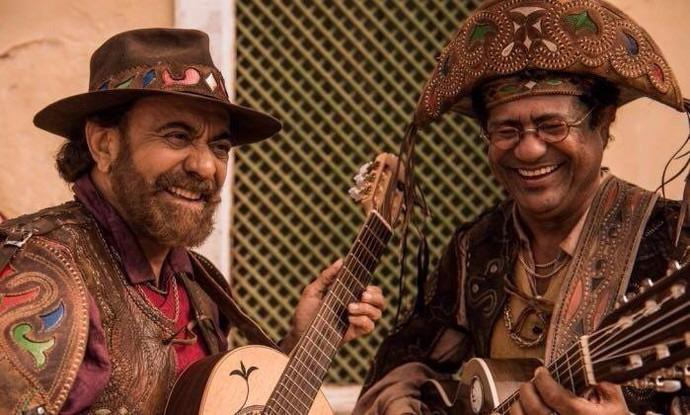 Maciel Melo e Xangai são dos repentistas em Velho Chico (Foto: Reprodução Redes Sociais/ Maciel Melo)