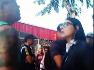 Prefeita de Cubatão, Marcia Rosa, discutiu com morador (Foto: Reprodução/G1)