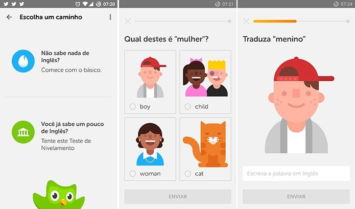 Duolingo ajuda usuário a aumentar seu vocabulário e compreensão do Inglês gratuitamente (Foto: Reprodução/Elson de Souza)