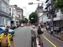Protesto de comerciários afeta trânsito na Av. Sete em Salvador