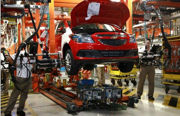 Linha de produção do Chevrolet Onix (Foto: Divulgação)