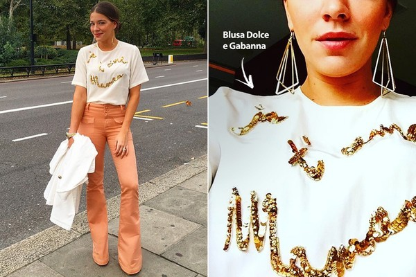 Luma Costa mostra detalhes de seus looks durante viagem a Londres
