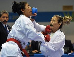 Lucélia carvalho caratê pan-americano  vôlei (Foto: AFP)