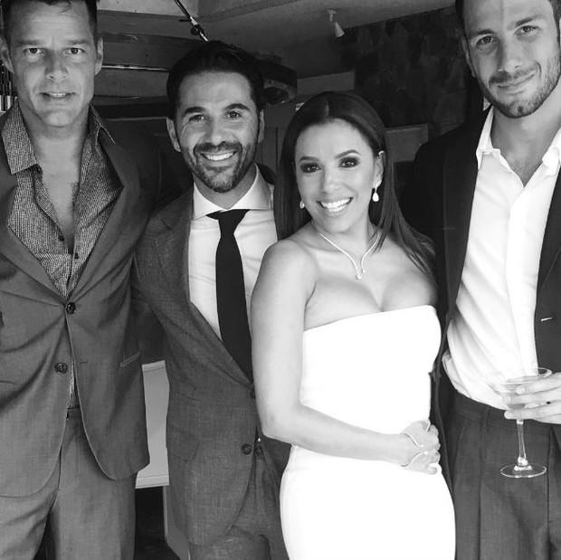 Ricky Martin no casamernto de Eva Longoria (Foto: Instagram / Reprodução)