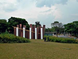 IBIRAPUERA A Obra de Ricardo Ohtake ficará entre o Monumento às Bandeiras e o Obelisco (Foto: Divulgação)