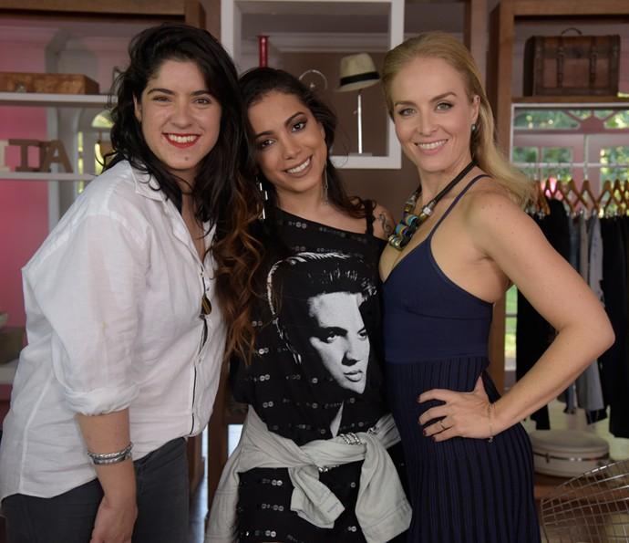 Anitta, Carol Roquete e Angélica (Foto: Raphael Dias/Gshow)