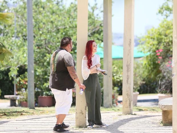 Josie Pessoa e o diretor Davi Lacerda (Foto: Isabella Pinheiro/TV Globo)