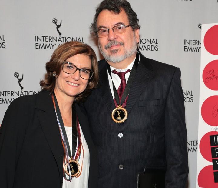 Autor e diretor de 'Doce de Mãe' Jorge Furtado com a diretora Ana Luiza Azevedo (Foto: TV Globo/ Luiz C. Ribeiro)