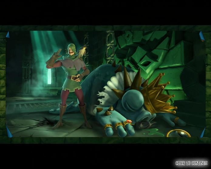 Com várias animações, falas e imagens caricatas, o game possui um clima irreverente e divertido (Foto: Reprodução/Daniel Ribeiro)