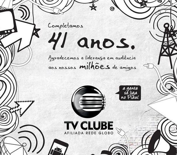 TV Clube 41 anos (Foto: Divulgação/TV Clube)