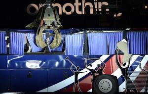 ônibus França destruído símbolo Copa  (Foto: AFP)