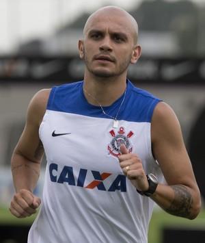 Fábio Santos treino Corinthians (Foto: Daniel Augusto Jr/ Agência Corinthians)