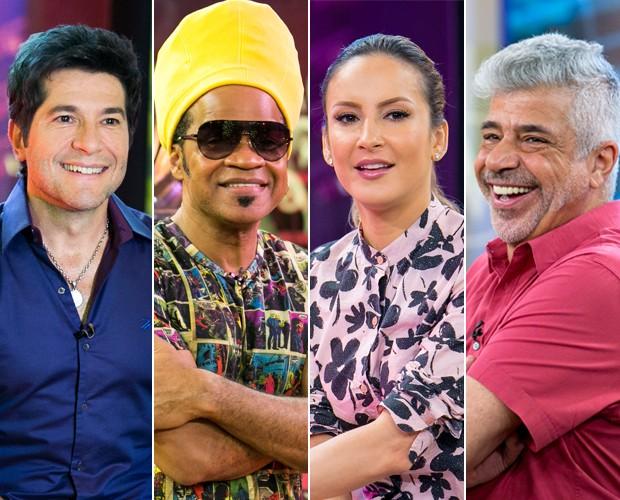 Técnicos The Voice no Tira-Teima (Foto: TV Globo)